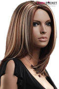 Medium Wavy Brown Balayage Blonde Basic Cap Wig