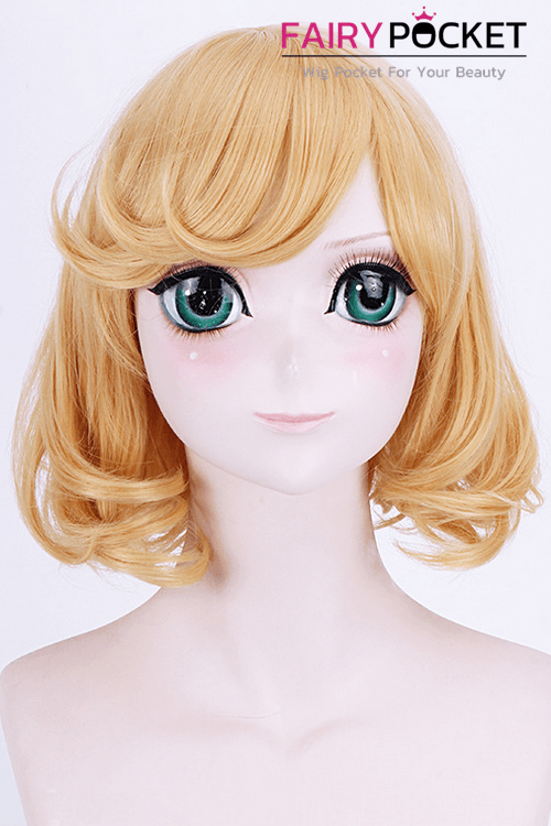 Short Wavy Orange Basic Cap Wig