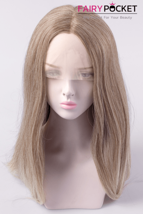 Mink Tan to Fawn Long Straight Lace Front Wig
