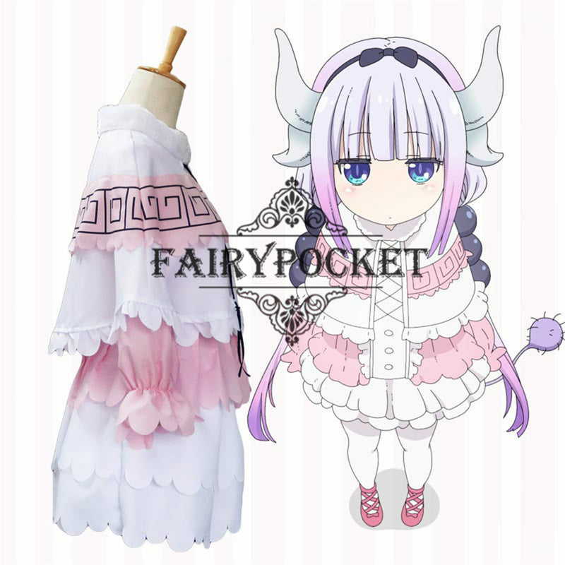 Miss Kobayashi's Dragon Maid Kanna Kamui Anime Cosplay Costume