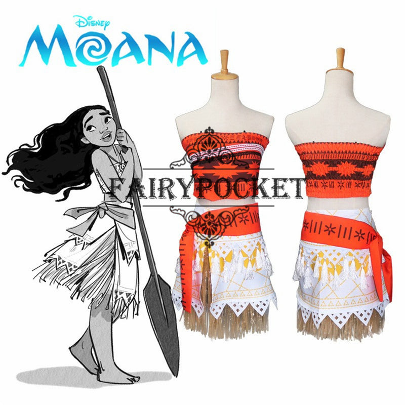 Moana Anime Cosplay Costumes