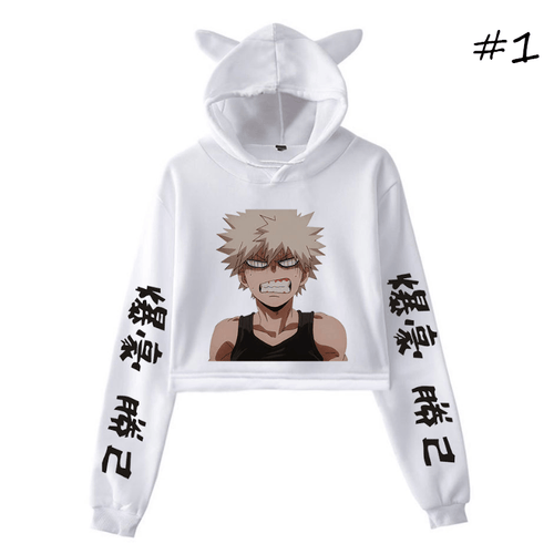 My Hero Academia Anime Cat Ear Hoodie (2 Colors)