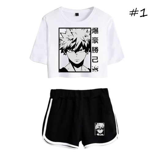 My Hero Academia T-Shirt and Shorts Suits (3 Colors) - B