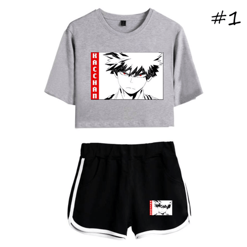 My Hero Academia T-Shirt and Shorts Suits (3 Colors) - C