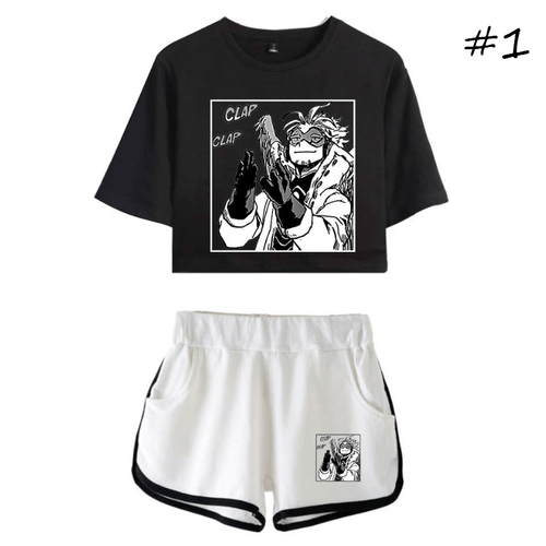 My Hero Academia T-Shirt and Shorts Suits (3 Colors) - D