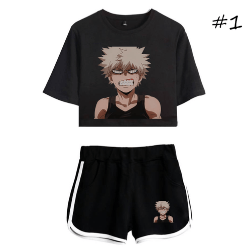My Hero Academia T-Shirt and Shorts Suits (3 Colors)