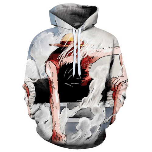 One Piece Monkey D Luffy Anime Hoodie - BG