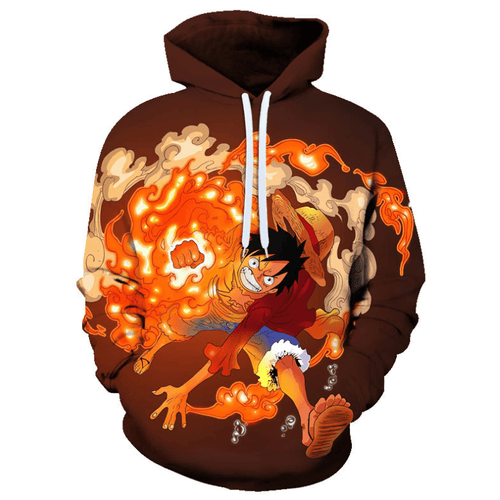 One Piece Monkey D Luffy Anime Hoodie - BI