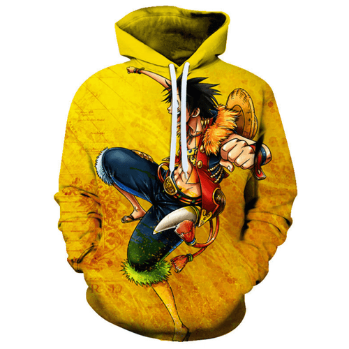 One Piece Monkey D Luffy Anime Hoodie - F