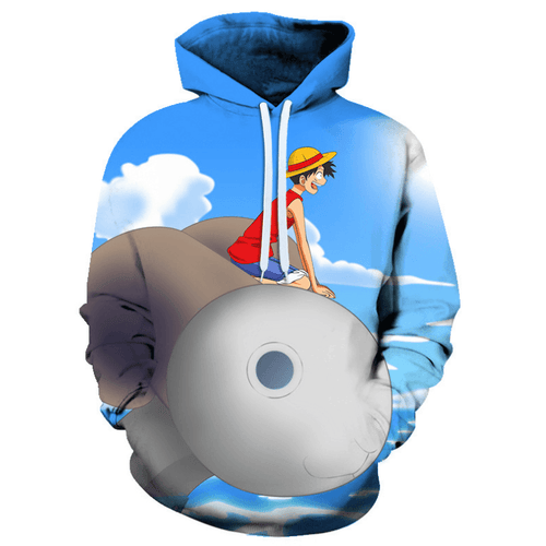 One Piece Monkey D Luffy Anime Hoodie - G