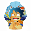 One Piece Monkey D Luffy Anime Hoodie - H
