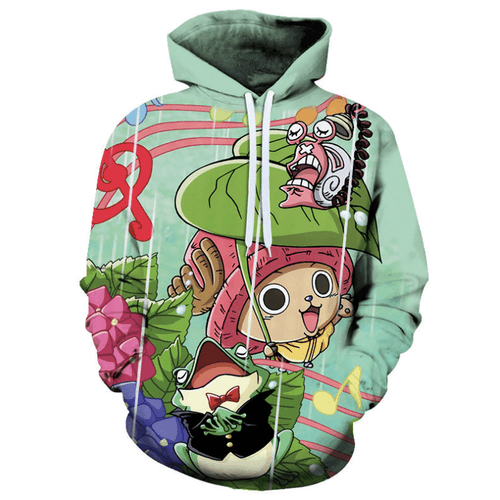 One Piece Tony Tony Chopper Anime Hoodie - B
