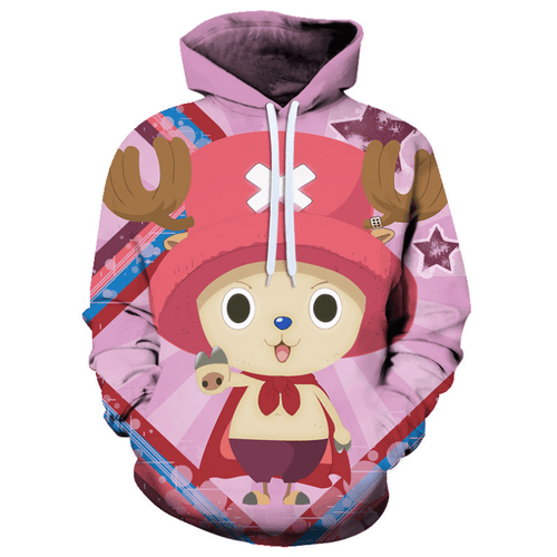 One Piece Tony Tony Chopper Anime Hoodie - C