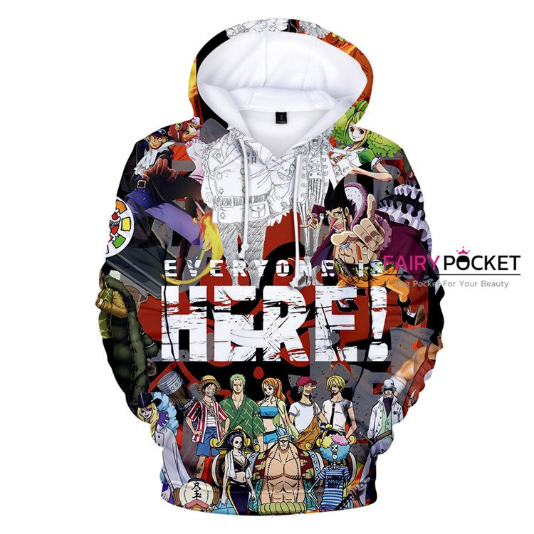 One Piece All in One Hoodie - E