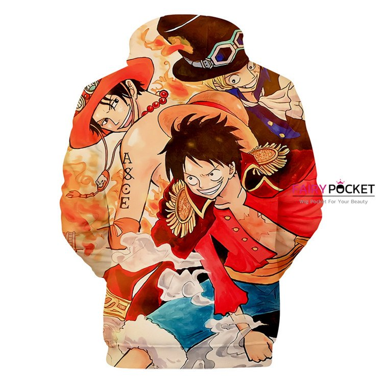 One Piece Kaido Monkey D Luffy Portgas D Ace Hoodie