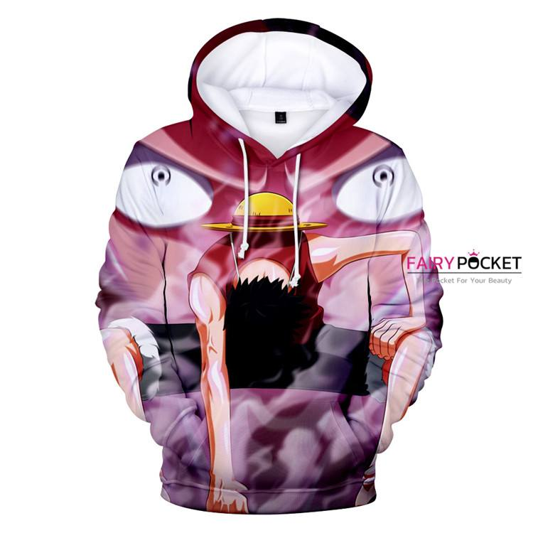 One Piece Monkey D. Luffy Red Hoodie