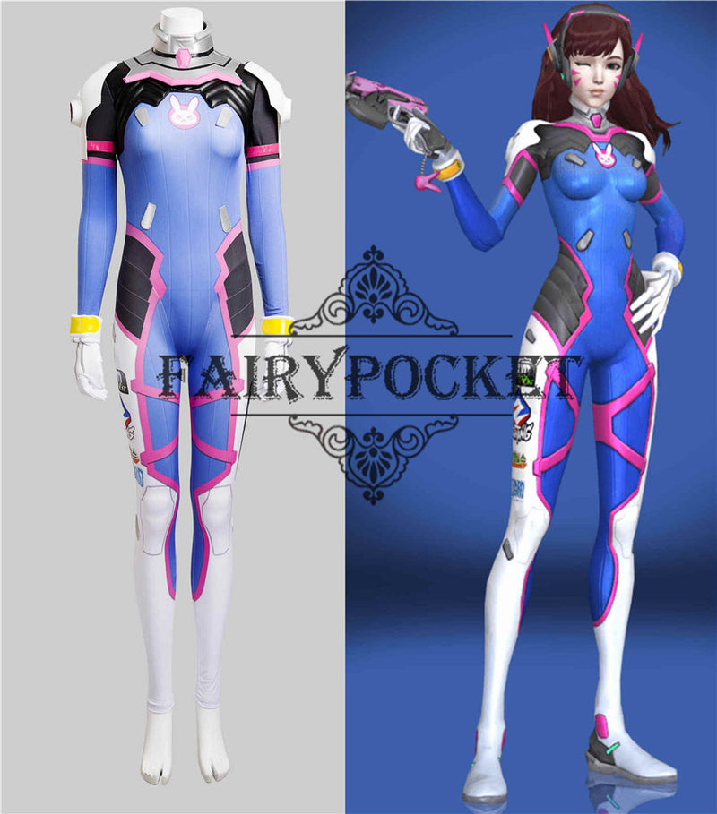 Overwatch D.VA Anime Cosplay Costume