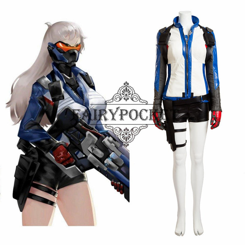 Overwatch Soldier 76 Cosplay Costume - Female