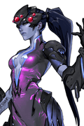Overwatch Widowmaker Anime Cosplay Wig