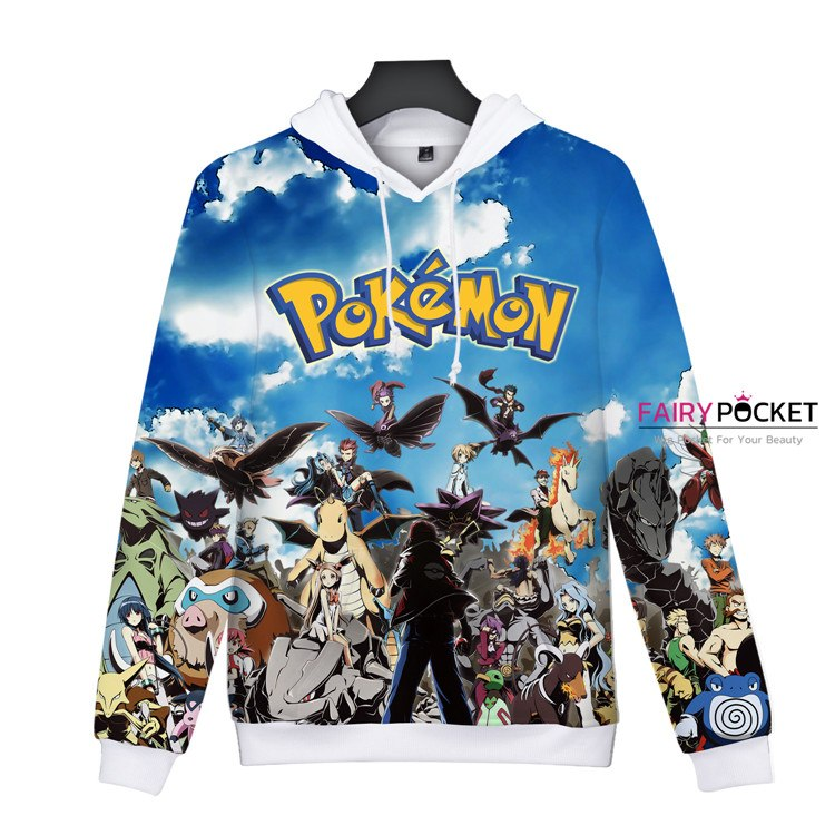 Pokemon All in One Blue Hoodie