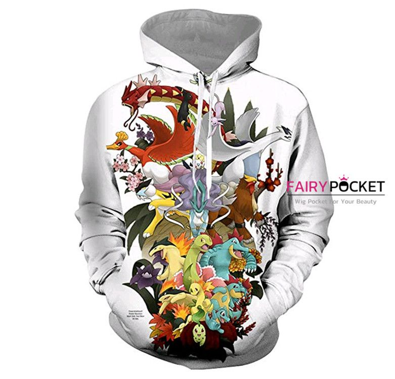 Pokemon All in One White Hoodie