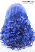 Primary Blue  Long Wavy Lace Front Wig