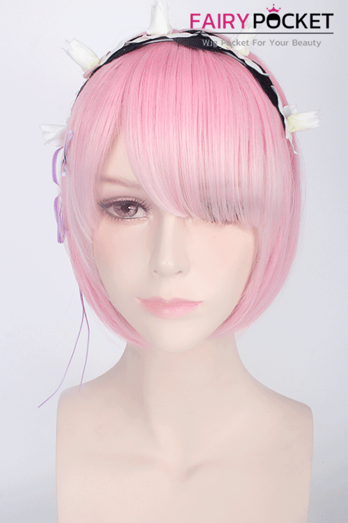 Re:ZERO -Starting Life in Another World Ram Anime Cosplay Wig