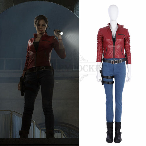 Resident Evil 2 Claire Redfield Cosplay Costume