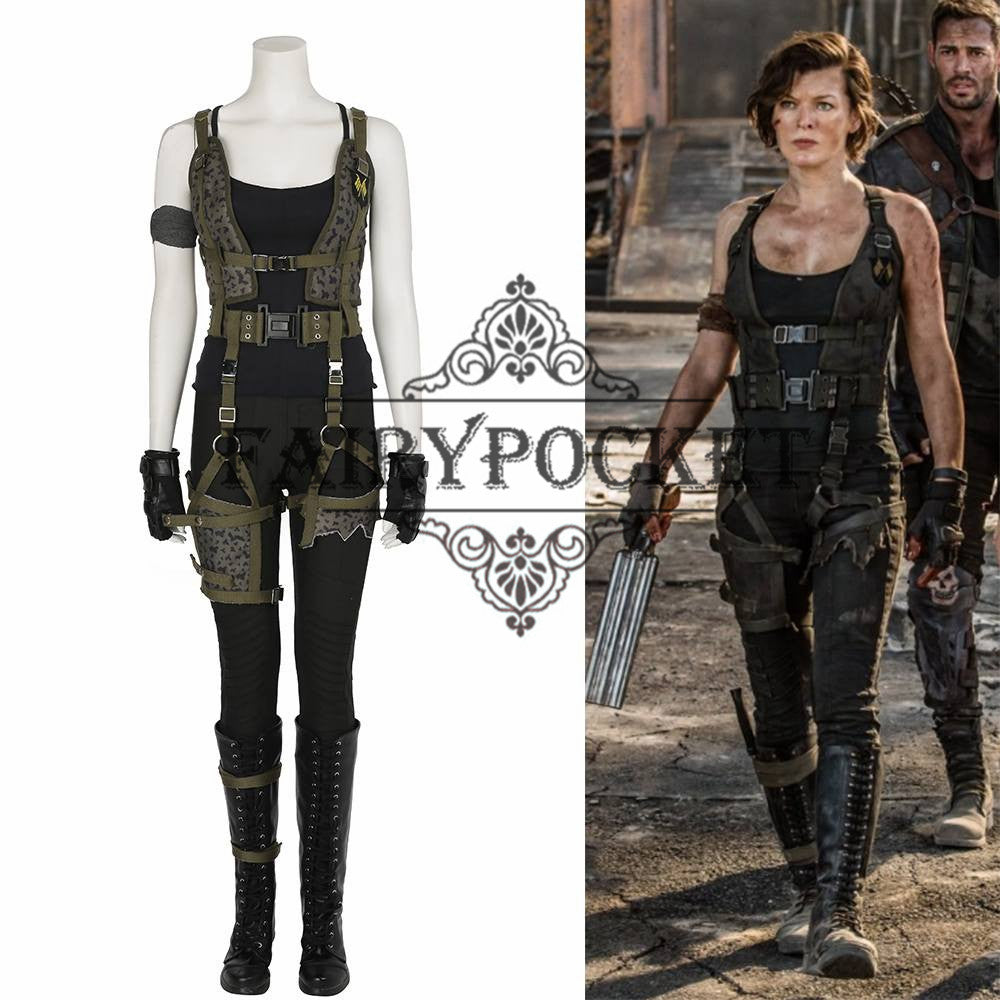 Resident Evil The Final Chapter Alice Anime Cosplay Costume