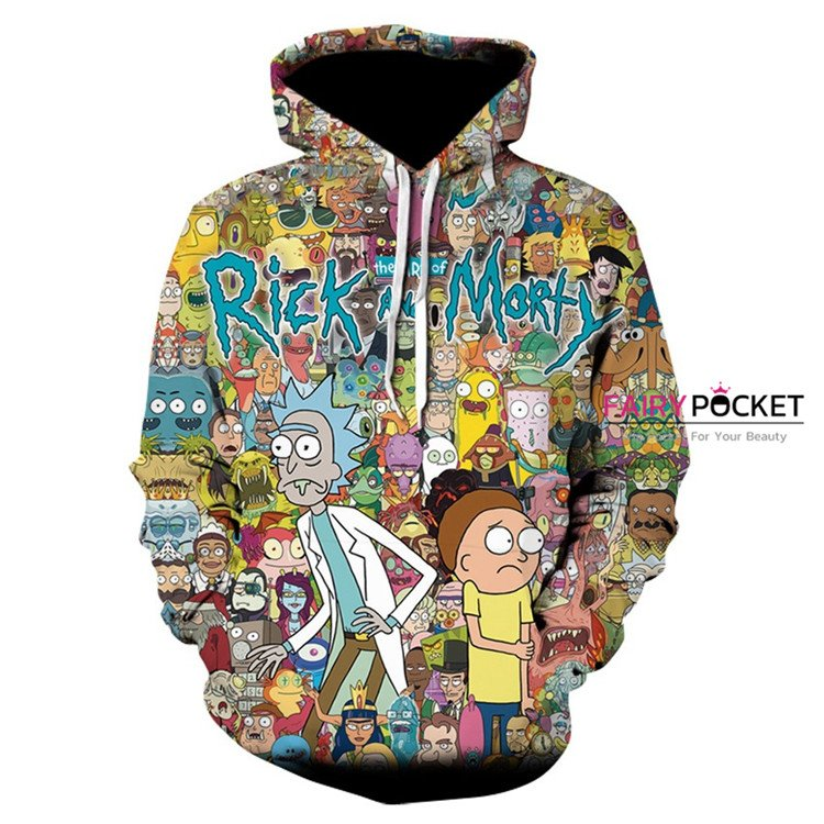 Rick and Morty All in One Hoodie