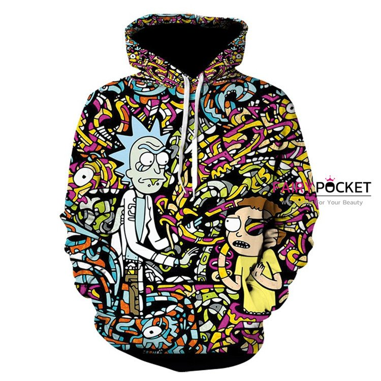 Rick and Morty Black Hoodie