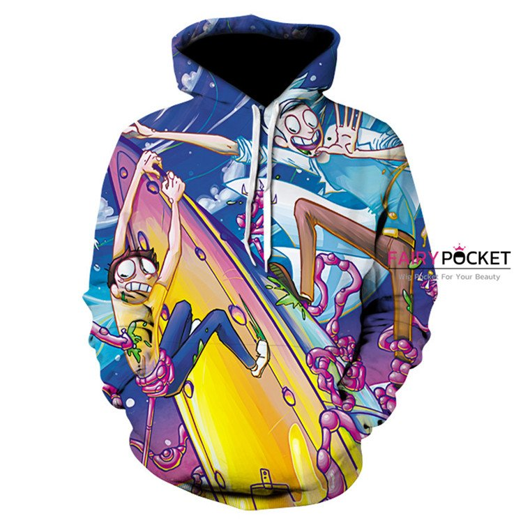 Rick and Morty Blue Hoodie