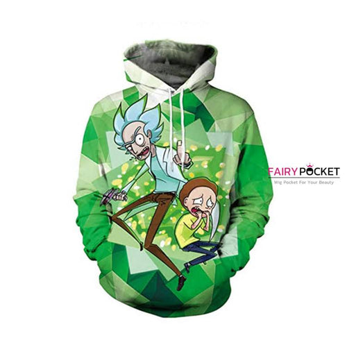 Rick and Morty Green Hoodie - B