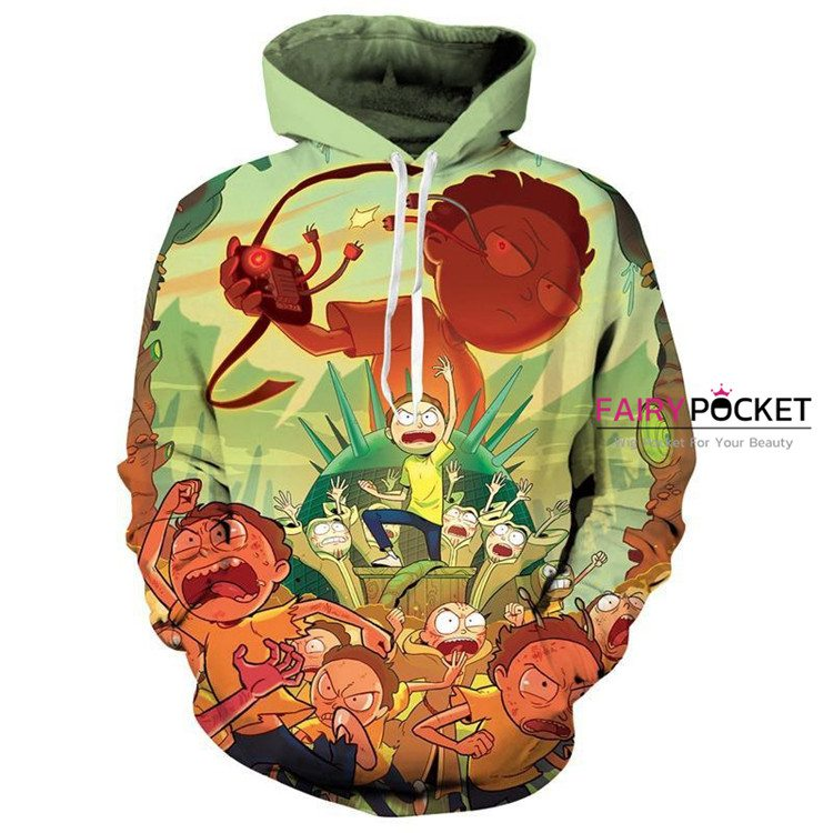 Rick and Morty Green Hoodie