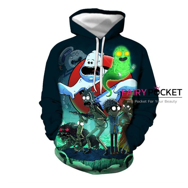 Rick and Morty Hoodie - Q