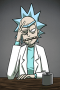 Rick and Morty Rick Sanchez Cosplay Wig