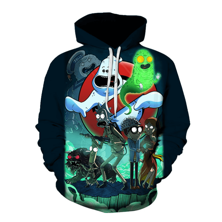 Rick and Morty Anime Hoodie - S - FairyPocket Wigs