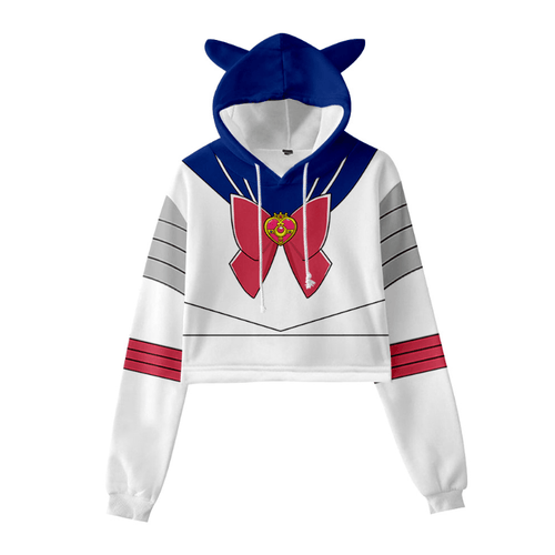 Sailor Moon Cat Ear Hoodie - B