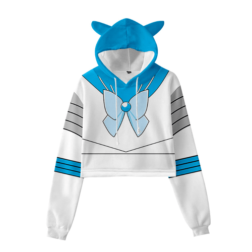 Sailor Moon Cat Ear Hoodie - C