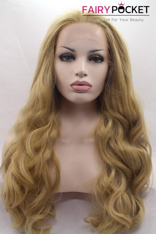 Sand Brown Long Wavy Lace Front Wig