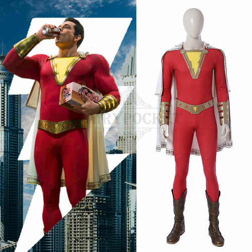 Shazam! Billy Batson Cosplay Costume