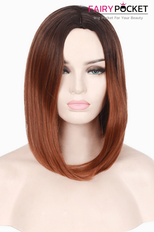 Short Bob Brown Basic Cap Wig