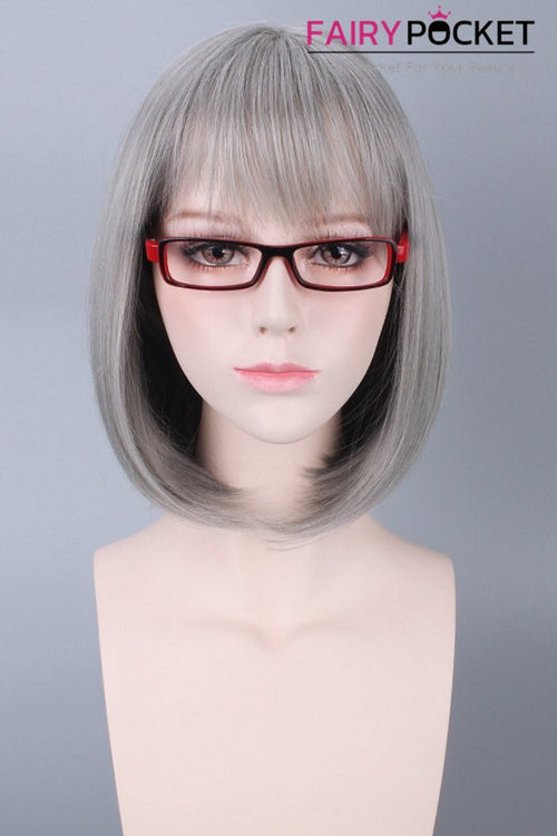 Short Grey Bob Basic Cap Wig