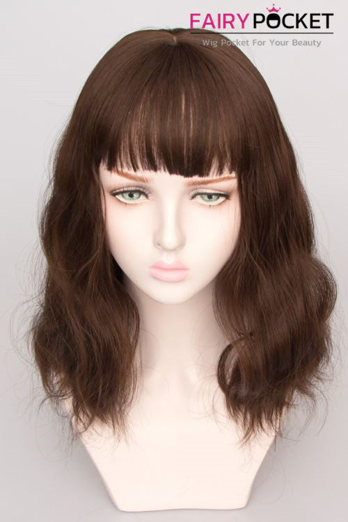 Short Wavy Light Cinnamon Basic Cap Wig