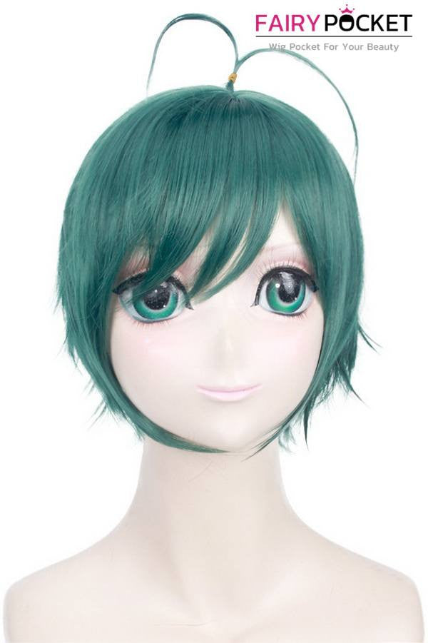 Short Straight Green Basic Cap Wig