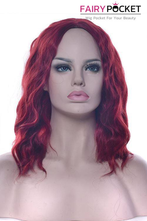 Short Wavy Berry Red Basic Cap Wig