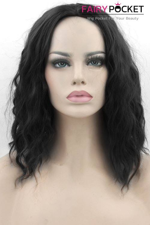 Short Wavy Black Basic Cap Wig