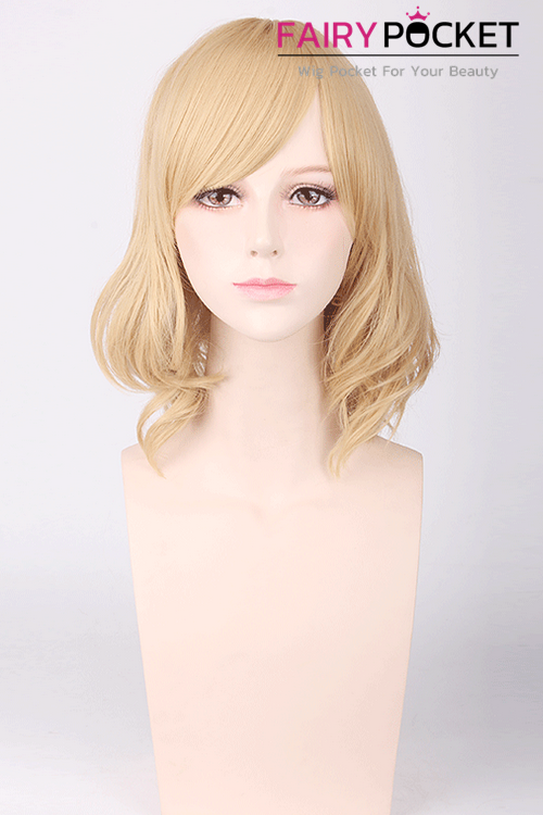 Short Wavy Blonde Basic Cap Wig