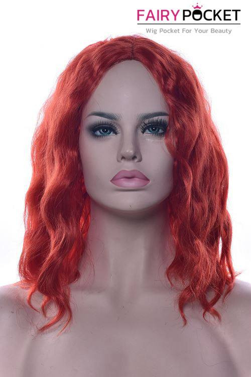 Short Wavy Cherry Red Basic Cap Wig