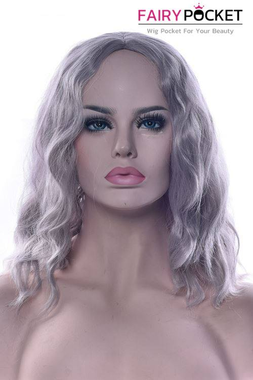 Short Wavy Grey Basic Cap Wig